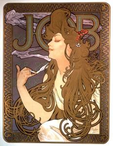 Cartaz para cigarros Job - Mucha